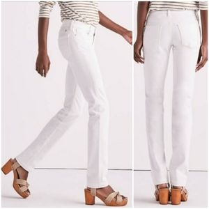 Lucky Brand Sweet N Straight White Jeans